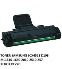 Muadil Toner Samsung D108 4521-1610-1640-2010-2510-257 XEROX PE220
