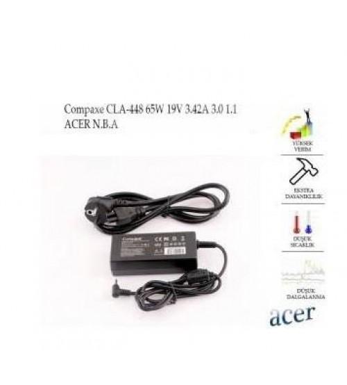 NB Adaptör CLA-448 Compaxe 19V 3.42A (3.0*1.1) Acer