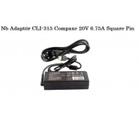 NB Adaptör CLI-315 Compaxe 20V 6.75A Square Pin