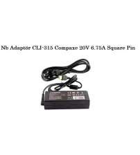 NB Adaptör CLI-315 Compaxe 20V 6.75A Square Pin