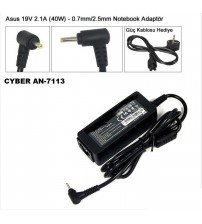 NB Adaptör Cyber AN-7113 Asus 19V-2.1A 2.5mm 0.7mm