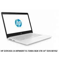 """NBB HP 2CR53EA 14-BP006NT I5-7200U 8GB 1TB 14"""" DOS BEYAZ"""