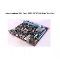 Oem Anakart H61 İntel 1155 2XDDR3 Hdmı Vga Ses