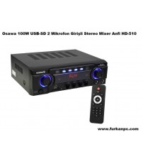 Osawa HD-510 ANFİ 100W USB-SD Girişli Stereo Mixer 2 Bölge