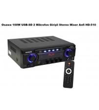 Osawa HD-510 ANFİ 100 Watt USB-SD 2 Bölge