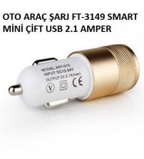 OTO ARAÇ ŞARJI FT-3149 SMART MİNİ ÇİFT USB 2.1 AMPER