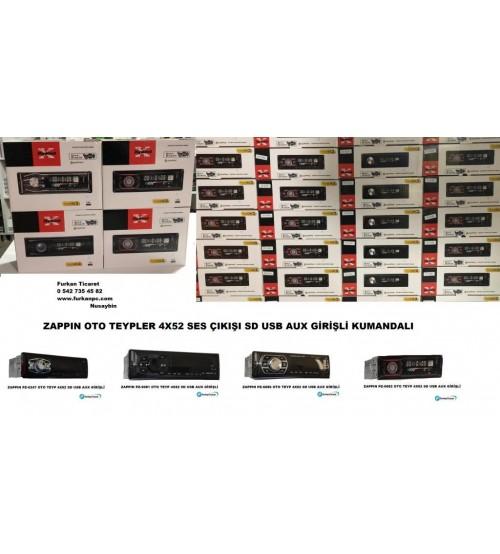 OTO TEYP 4X52 SD USB AUX GİRİŞLİ KUMANDALI