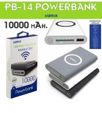 PB-14 Sunix Kablosuz Powerbank 10000 mAh