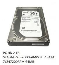 """PC HD 2 TB SEAGATEST32000646NS 3.5"""" SATA 7/247200RPM 64MB"""