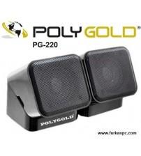 PG-220 Poly Pc Gold Speaker 1+1