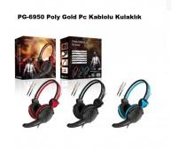 PG-6950 Poly Gold Pc Kablolu Kulaklık
