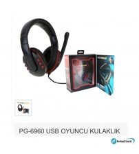 PG-6960 Poly Gold Pc Mikrofonlu Kulaklık