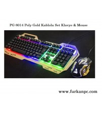 PG-8014 Poly Gold Kablolu Set Klavye & Mouse