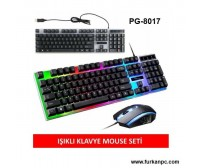 PG-8017 Poly Gold Kablolu Set Klavye & Mouse