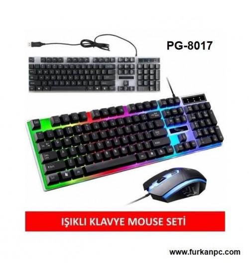 PG-8017 Poly Gold Kablolu Set Klavye & Mouse