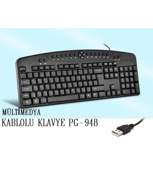 PG-948 Poly Gold Kablolu Klavye Multimedya