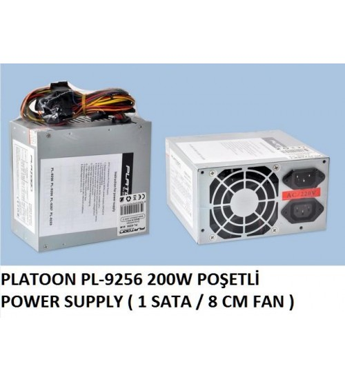 PL-9256 Platoon 200W Power Supply (1 Sata 8 Cm)