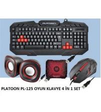 PLATOON PL-125 OYUN KLAVYE 4 İN 1 SET