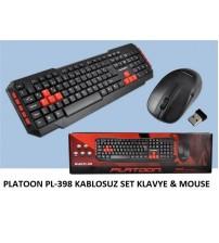 PLATOON PL-398 KABLOSUZ SET KLAVYE & MOUSE