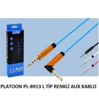 PLATOON PL-8913 L TİP RENKLİ AUX KABLO