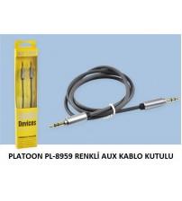 PLATOON PL-8959 RENKLİ AUX KABLO KUTULU