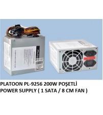PLATOON PL-9256 200W POŞETLİ POWER SUPPLY ( 1 SATA / 8 CM FAN )