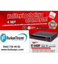 RT-8408P Retro 8 Kanal Kayıt Cihazı 5-IN-1 4MP Ahd