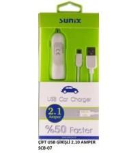 S-307 Sunix Araç Şarj Aleti Micro 2,10 Amper