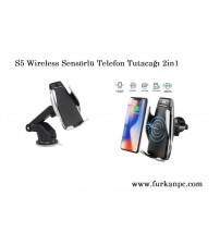 S5 Wireless Sensörlü Telefon Tutacağı 2in1