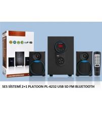 SES SİSTEMİ 2+1 PLATOON PL-4232 USB SD FM BLUETOOTH
