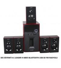 SES SİSTEMİ 5+1 LEADER H-6805 BLUETOOTH USB SD FM RADYOLU