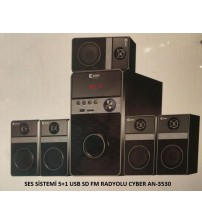 SES SİSTEMİ 5+1 USB SD FM RADYOLU CYBER AN-3530