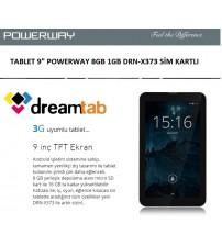 "TABLET 9"" POWERWAY 8GB 1GB DRN-X373 SİM KARTLI"