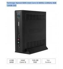 Technopc Nano3-5005 Intel Core i3-5005U 2.00GHz 4GB 120GB SSD Mini PC